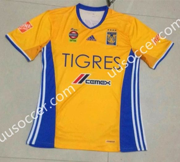 b3293981d83 2016-17 Tigres UANL Home Yellow Thailand Soccer Jersey AAA