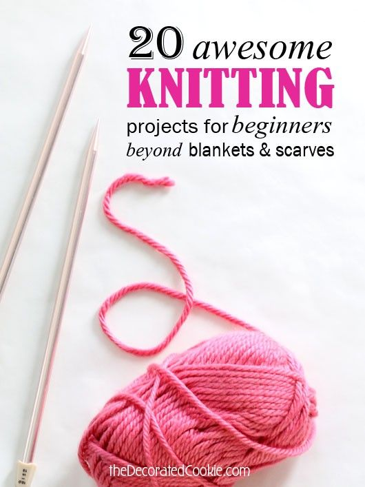 20 knitting projects for beginners | Tejido, Dos agujas y Puntos