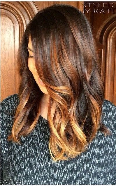 coloration cheveux balayage caramel sur base brune hair hair balayage hair styles. Black Bedroom Furniture Sets. Home Design Ideas