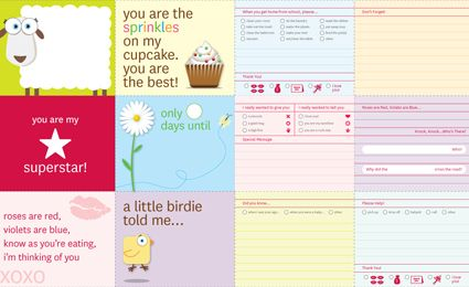 free printable lunchbox notes from buttoned up