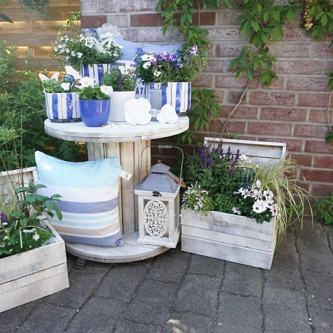 Nordseefeeling Auf Der Terrasse Gartendekoideen Blumendeko Gartendesign Blumenwelt Terrassengestaltung Garten Design Gartencontainer Garten Deko Ideen