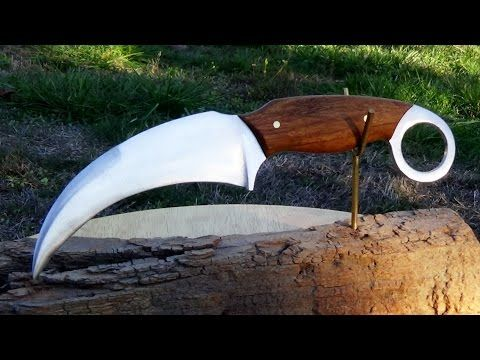 How To Make A Karambit Knife Out Of A Lawnmower Blade Youtube Karambit Knife Knife Survival Knives Outdoors