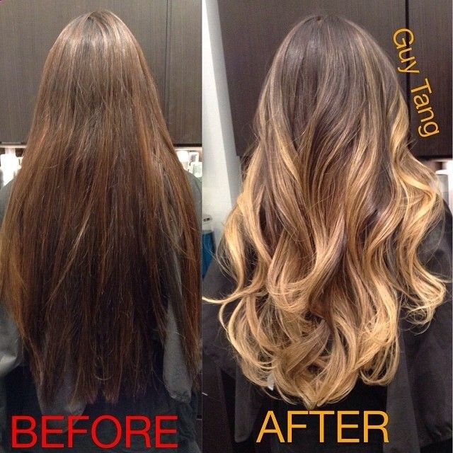 Her Before was dyed dark underneath the nape so this was a color correction  that took