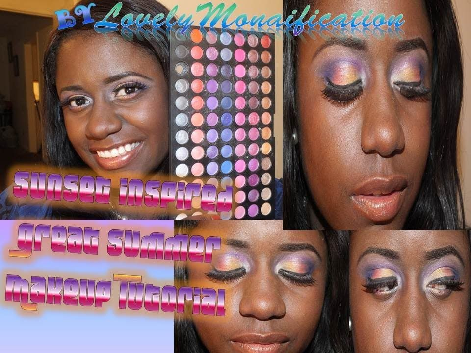 2013 Bold Colorful Summer Look/ Makeup: Sunset Inspired