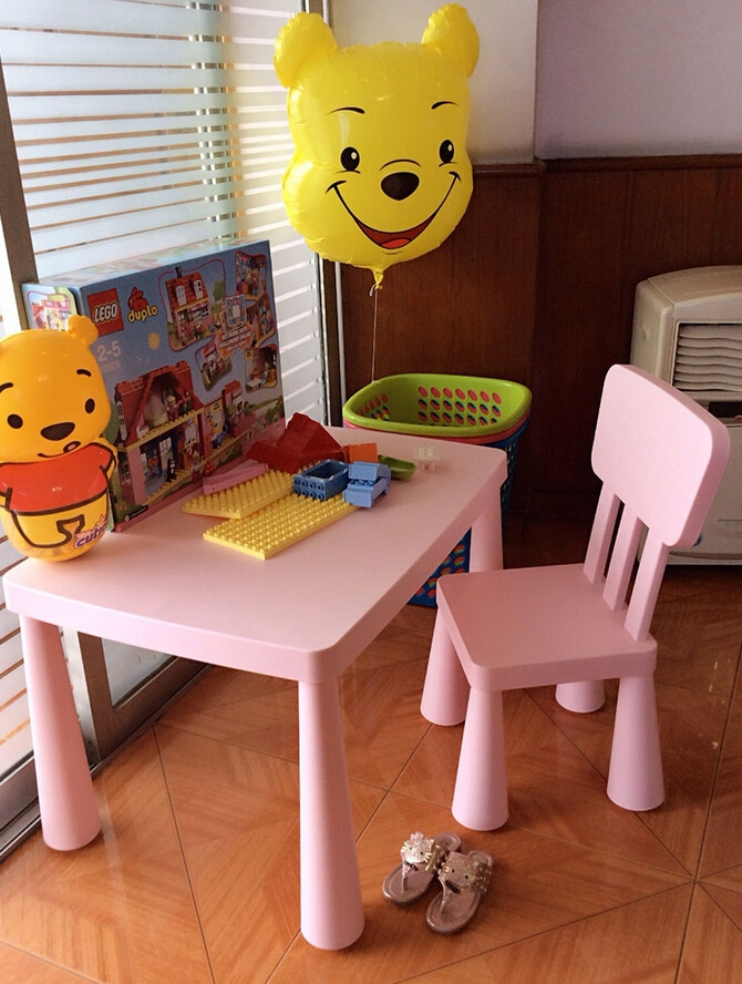 69.00$  Buy now - http://aliwxp.worldwells.pw/go.php?t=32692243438 - Children's Table And Chairs Baby  Plastic Tables Desk Desk Study Table Free Purchasing Fee