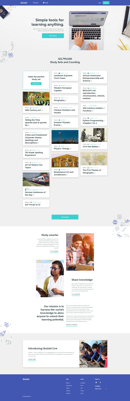 Quizlet Web Design Trends