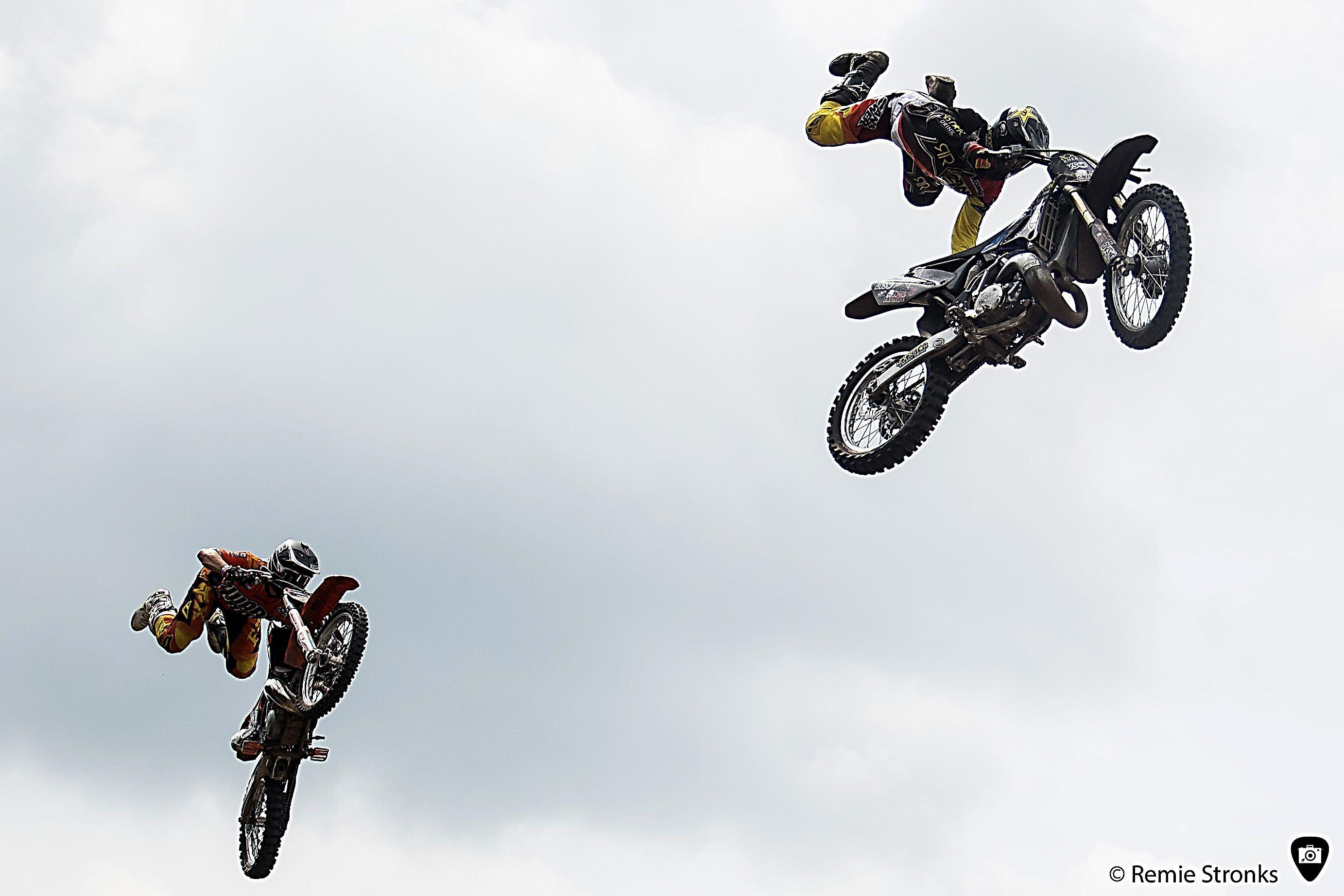 Motor stunts at the Zwarte Cross festival 2014