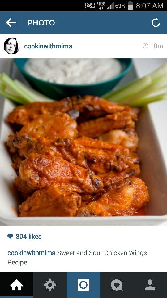 Sweet and Sour Chicken Wings. Yum!