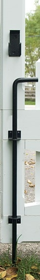 """48"""" Stainless Steel Cane Bolt with contemporary brackets"""