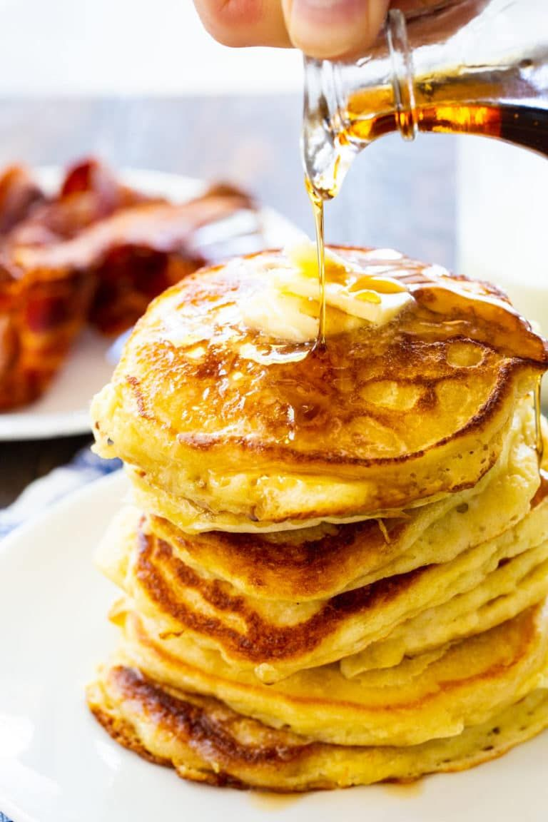 Classic Buttermilk Pancakes So Thick And Fluffy In 2020 Recipes Pancake Recipe Buttermilk Breakfast Brunch Recipes