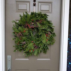 Photo of Large Rustic Pinecone Wreath