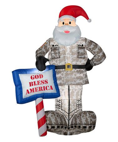 $7999!! Military Santa Inflatable Light-Up Lawn Décor on #military