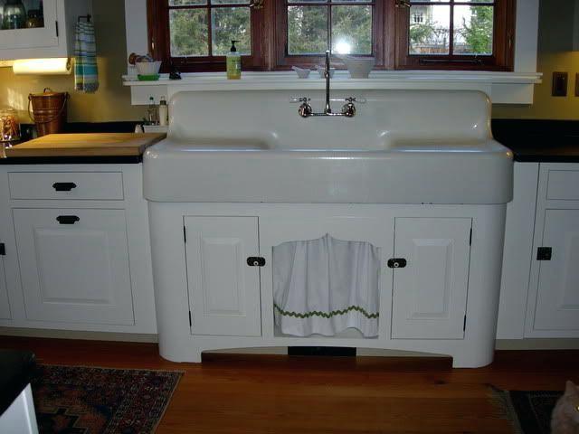Retro Vintage Kitchen Sink Farmhouse With Drainboard Farmhouse