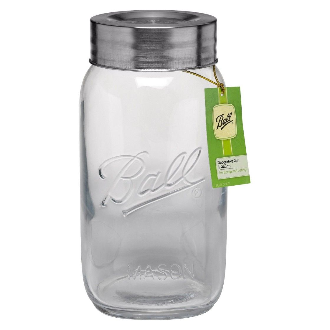 Ball® Wide Mouth Gallon (128 Oz.) Collector\'s Mason Jar With Lid ...