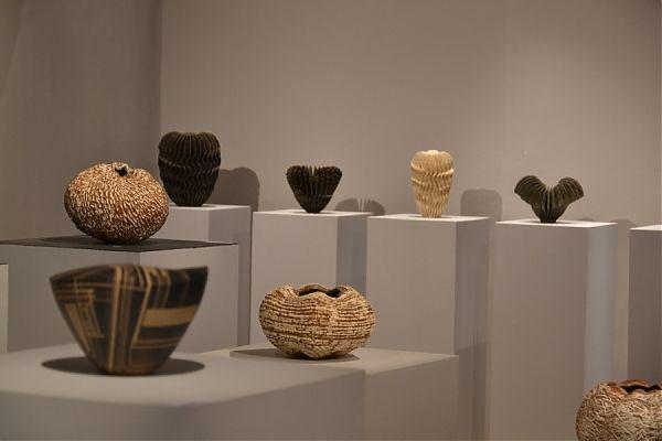 Sandrine Tonnelier, Stephanie Durand and Ursula Morley-Price at Galerie de 'Ancienne Poste: Rétrospective 2011