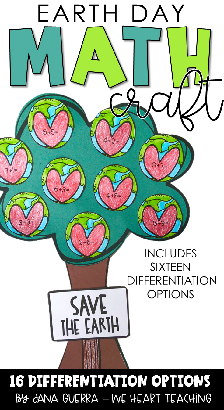 Earth Day Math Craft Math Crafts Earth Day Activities Math [ 1344 x 736 Pixel ]