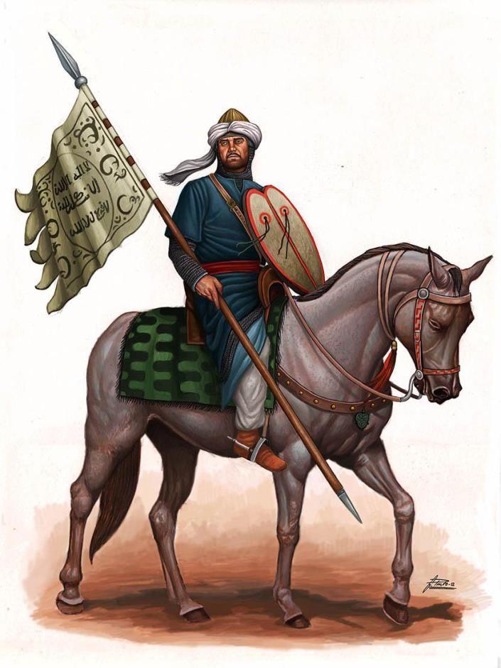 Cavalier Du Maghreb Islamique Lors De La Conquete D Espagne Au 8 Siecle Art A Theme Cheval Illustrations Historiques Chevalier Medieval
