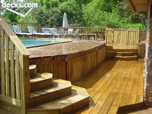 Pool Deck Pool Patio Swimming Pool Decks Above Ground Pool Decks