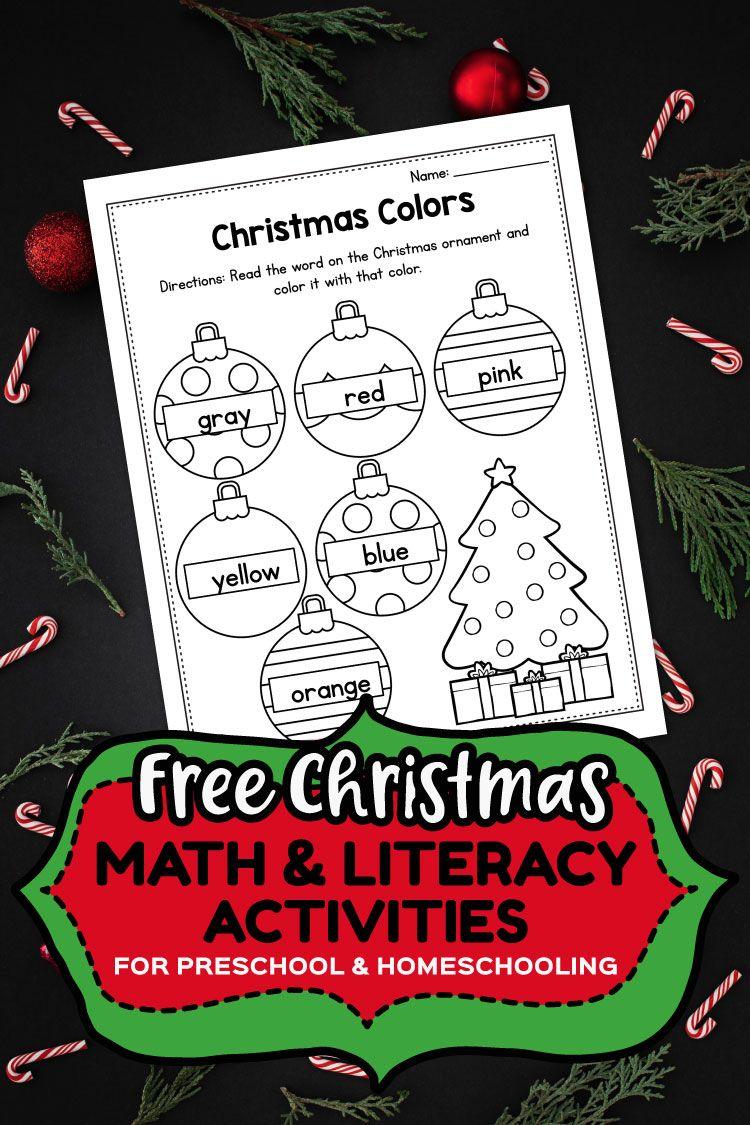 Free Preschool Colors Printable Christmas Worksheets Preschool Coloring Sheets Preschool Christmas Activities Christmas Math Preschool Activities [ 1125 x 750 Pixel ]