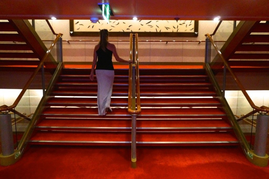 Using the stairs on a cruise ship will burn 5 calories per