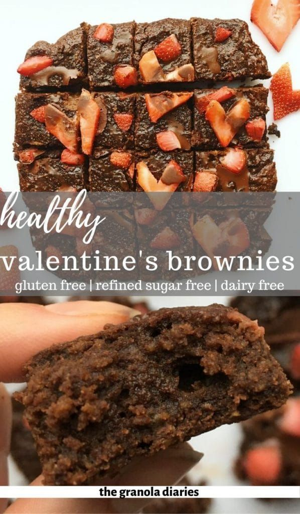 These Healthy Valentine's Day Brownies are delicious, romantic, and secretly healthy too! They scre