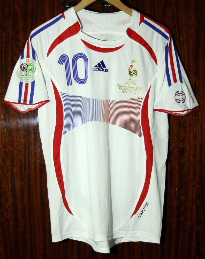 Zidane 2006 Fifa World Cup Final Soccer Football Jersey Sz L Ebay