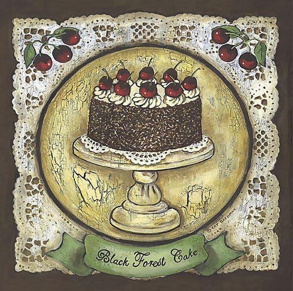 Винтажные открытки с тортом, открытки днем рождения