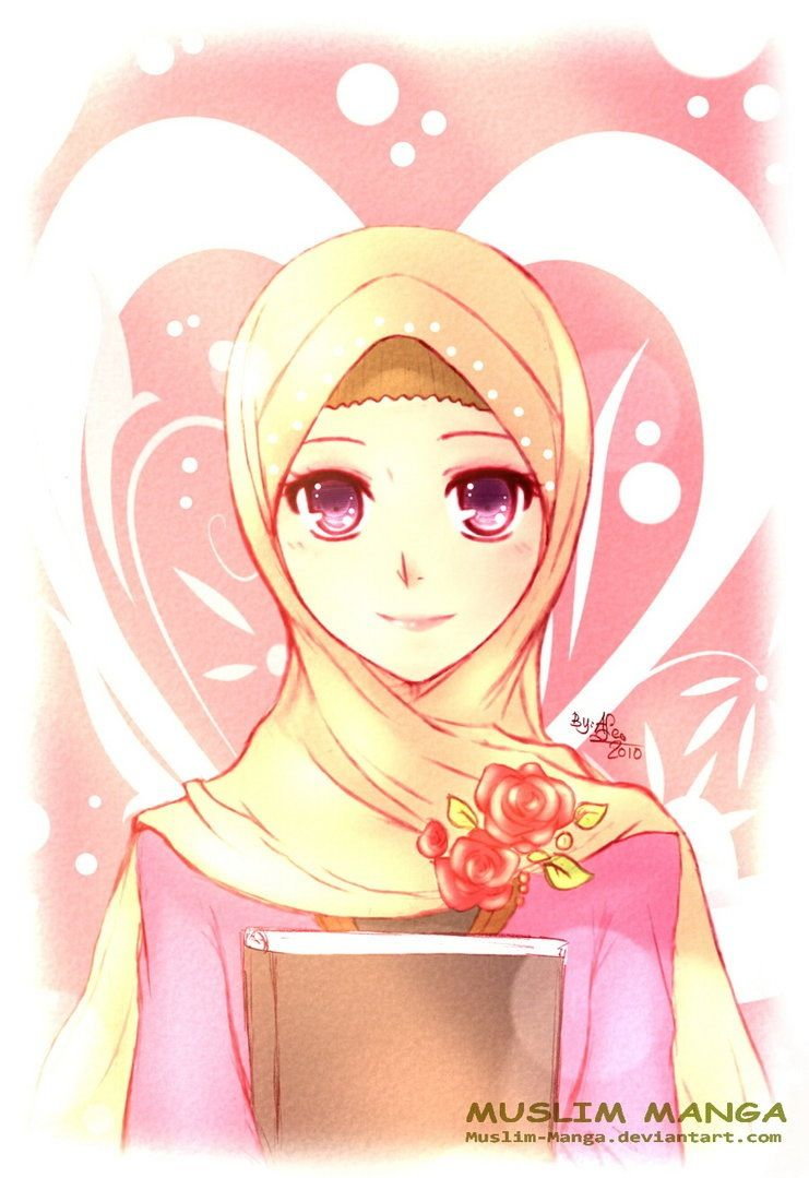 Headscarf Anime Muslim Girl
