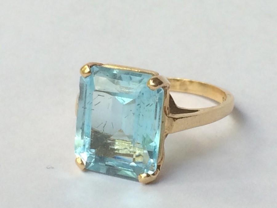 Goshwara Gossip Round Blue Topaz Stackable Ring - 6.5 bzY5gez