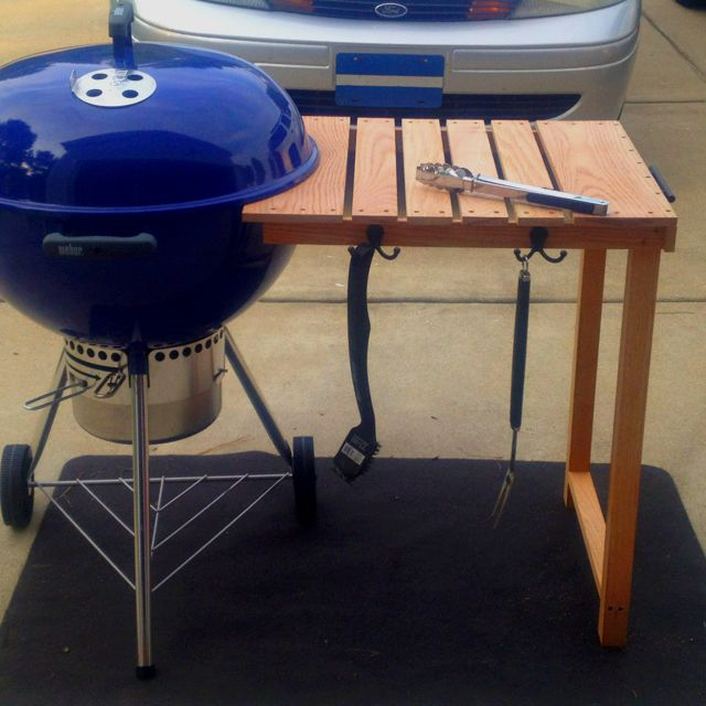 Made At Home Prep Table For The New Webber 22 5 In Grill Bbq