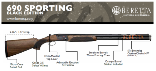 Beretta Black Edition Beretta Clay Pigeon Shooting - Custom shotgun barrel stickers