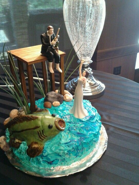 fish wedding cake ideas grooms cake fishing theme wedding ideas 14300