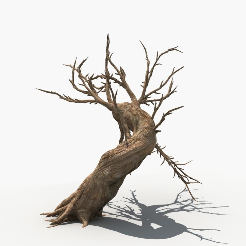 3d Scary Tree Dry Model Tree Dry Tree Scary