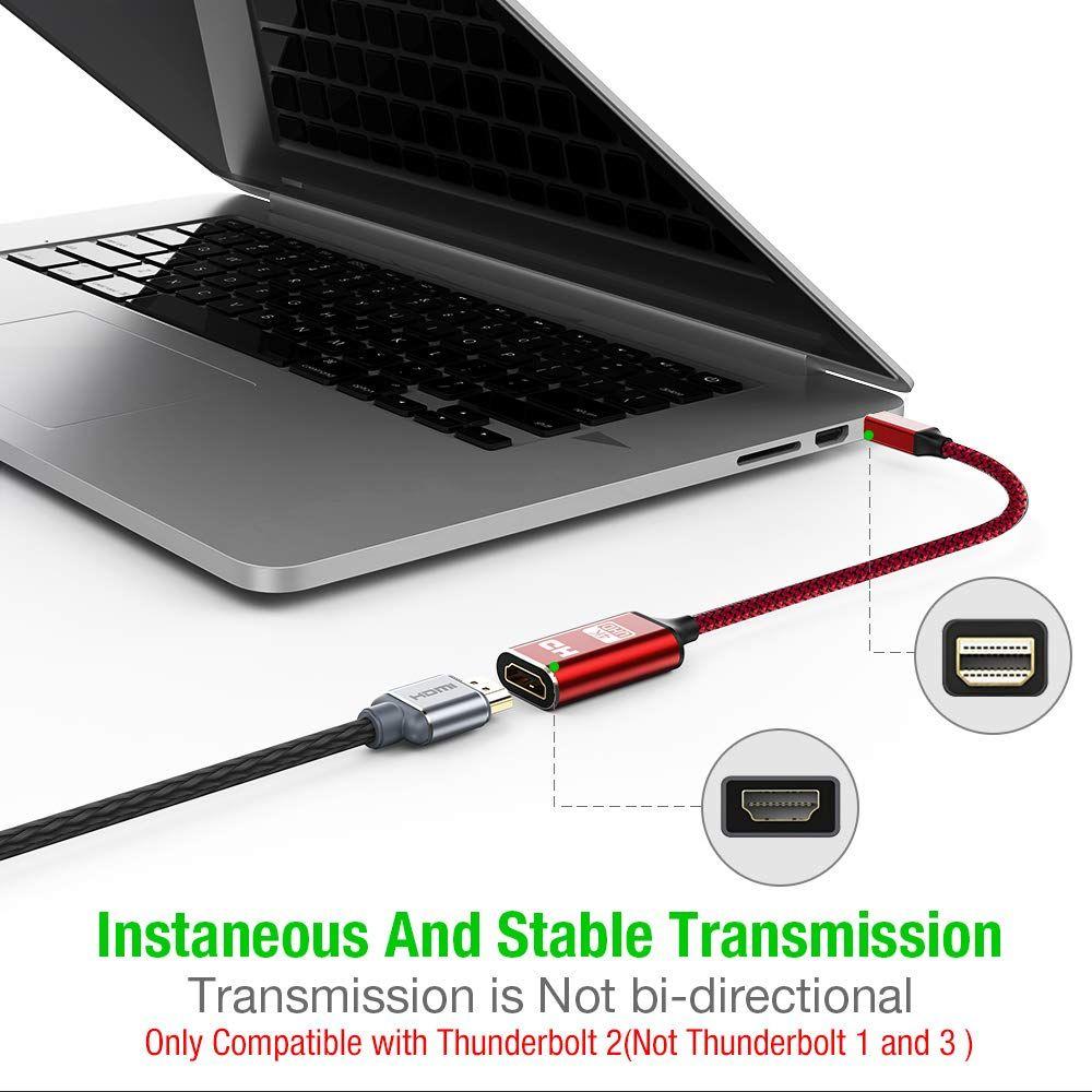 4K Mini DisplayPort to HDMI Adapter, Capshi Thunderbolt to