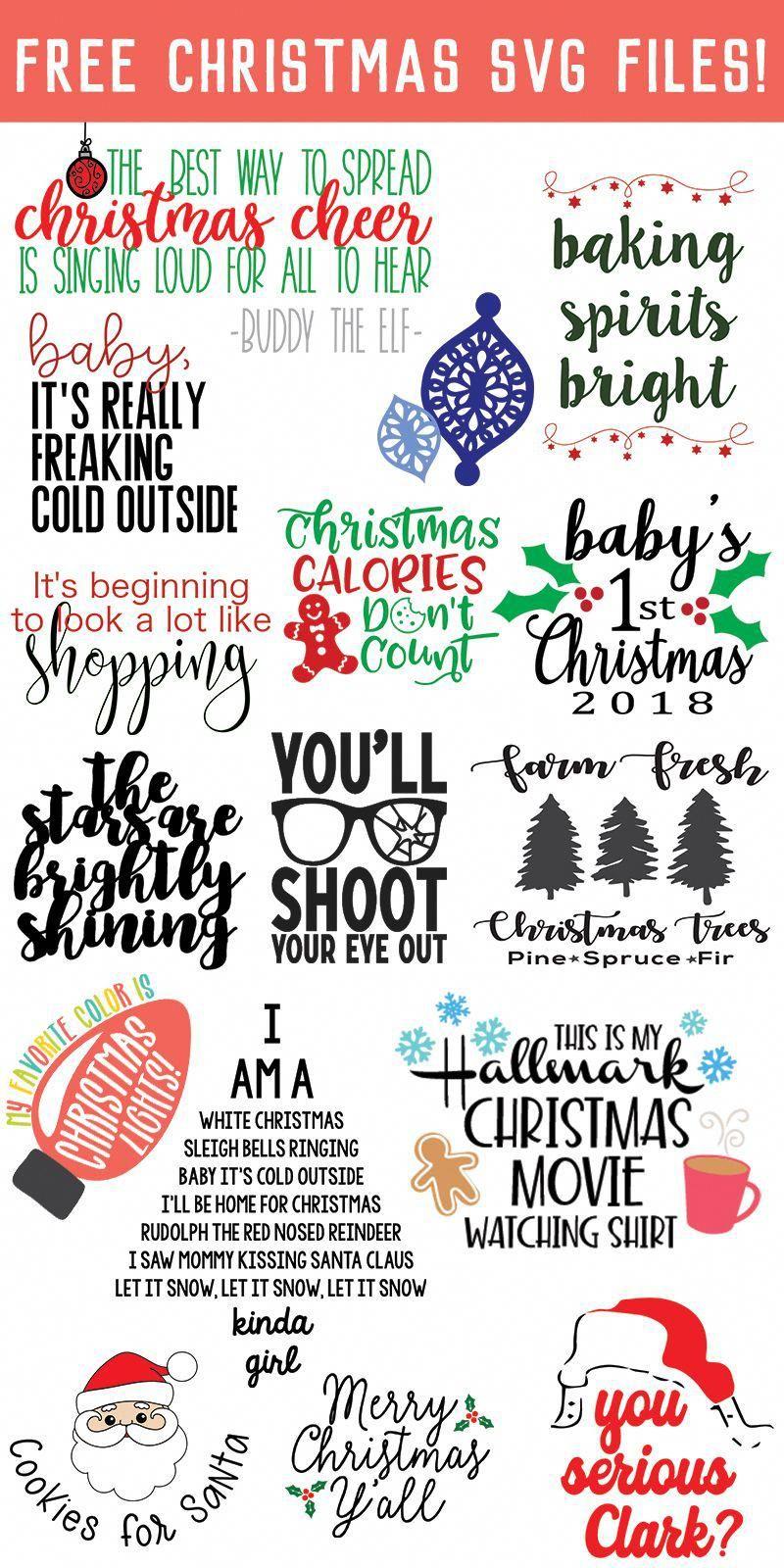 Free Christmas Svg Cutting Files : christmas, cutting, files, Christmas, Files, Files,, Cricut, Projects, Vinyl,