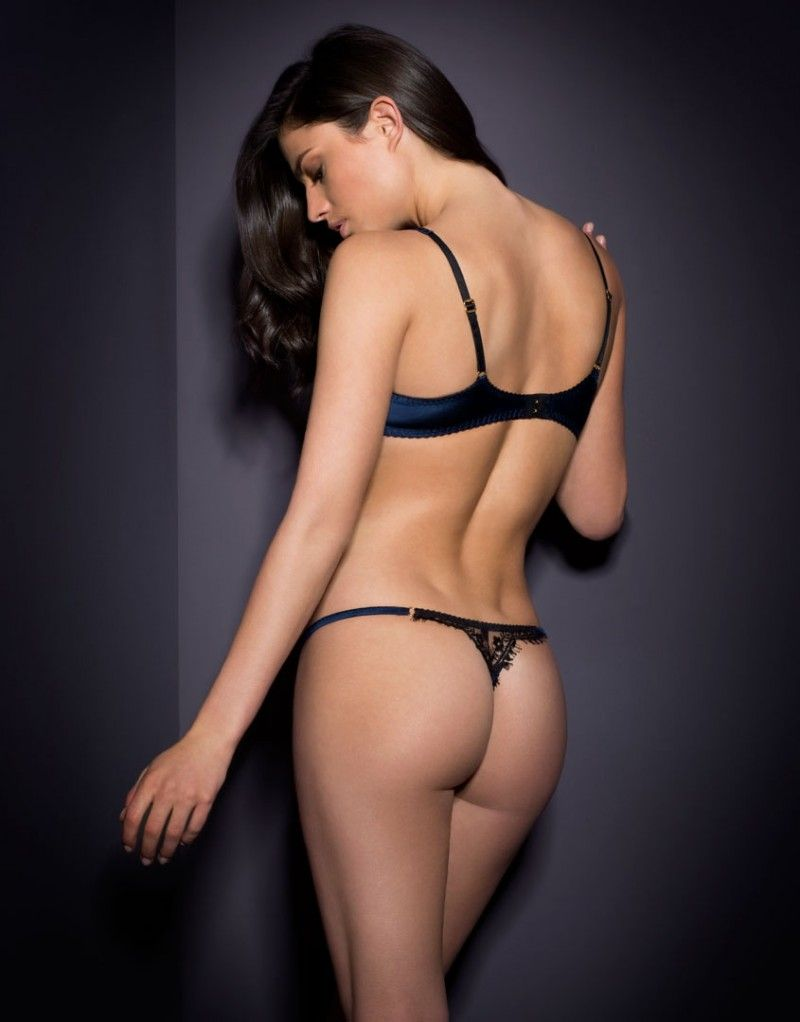 Stephanee Thong Navy Black - View All Lingerie - Lingerie Agent Provocateur 7739aa143