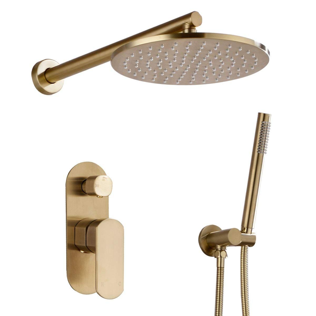 Brushed Gold Shower System 10 Shower