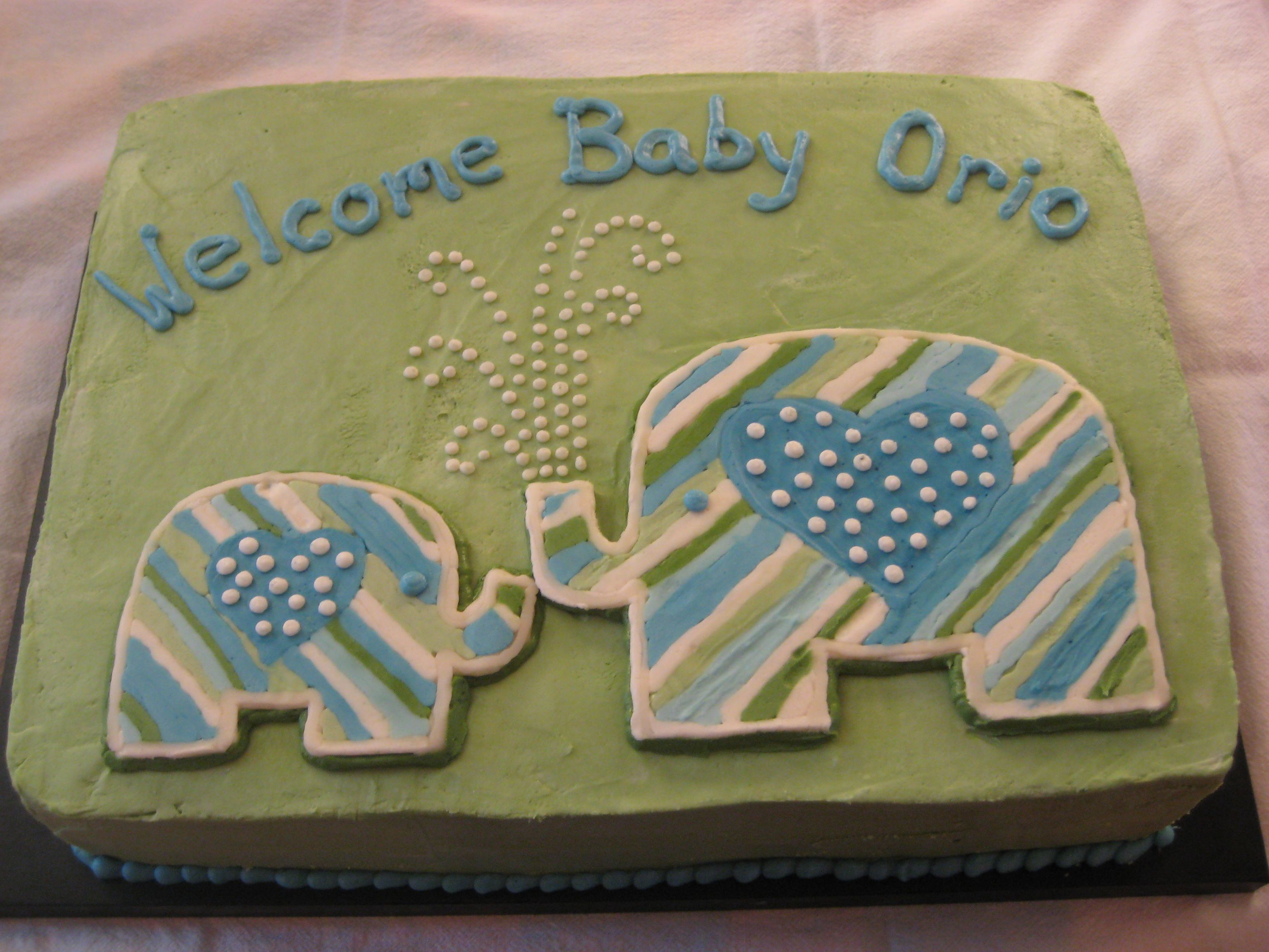 Baby Boy Sheet Cake Ideas | Little Elephant Cake For A Baby Shower Inviteu2026in