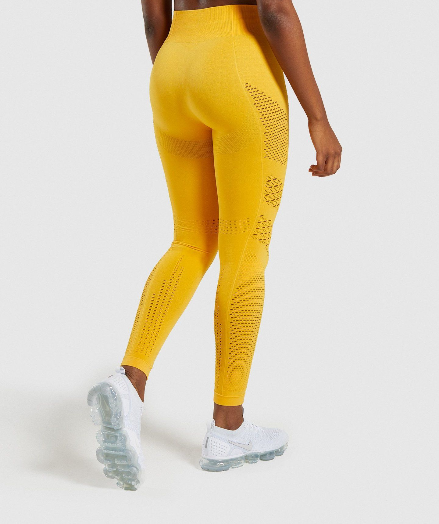 65642fcb25cba Gymshark Flawless Knit Tights - Yellow | Bottoms & Leggings | Gymshark