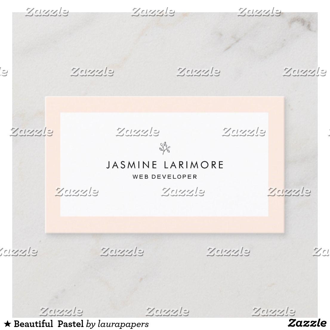 Beautiful pastel business card zazzlecouk pastel