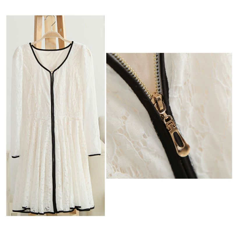 Free Shipping  Fashion Women's Ruched Pleated Dress Solid Color Zip-up Dress $23.77