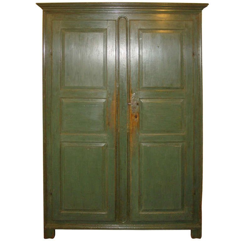 Green Armoire From Quebec | From A Unique Collection Of Antique And Modern  Wardrobes And Armoires