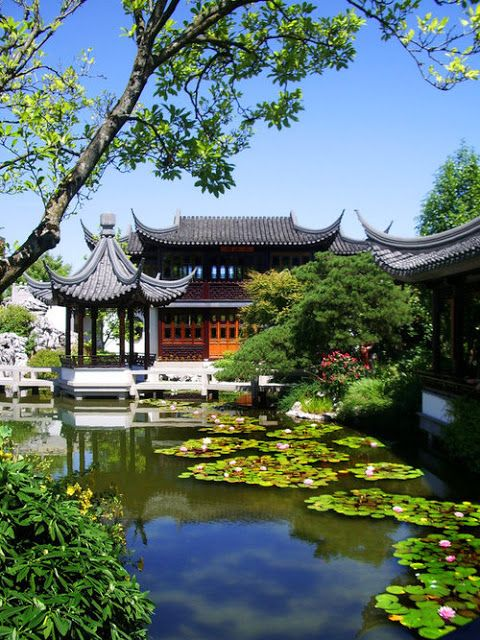 Classical Chinese Garden In Portland, Oregon