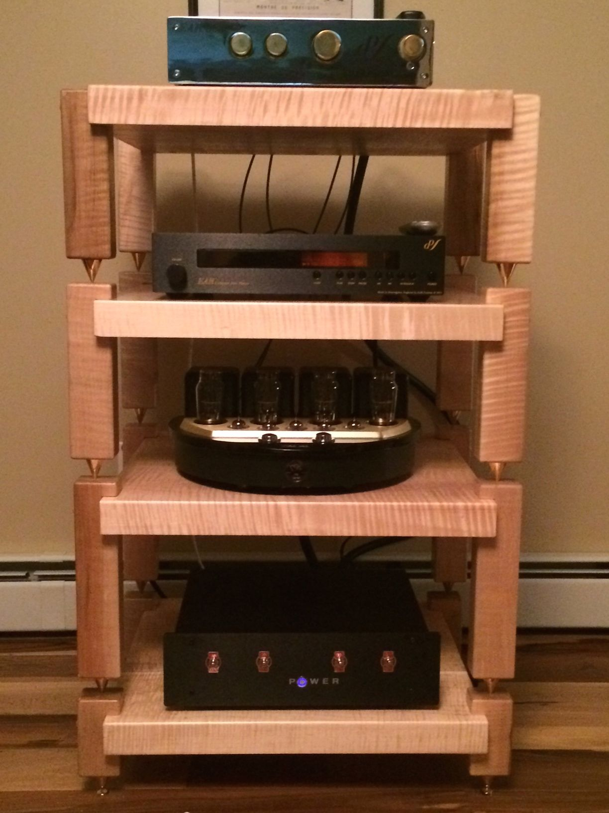 Media Rack Timbernation Stereo Racks And Audio Stands