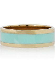 CHLOÉ  Small Holly enameled brass ring