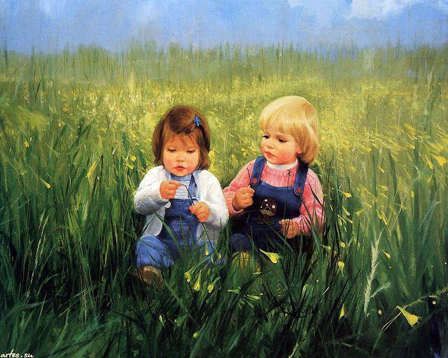 Sfondi Bambini ~ Il mondo di mary antony: i bambini di donald zolan art pinterest