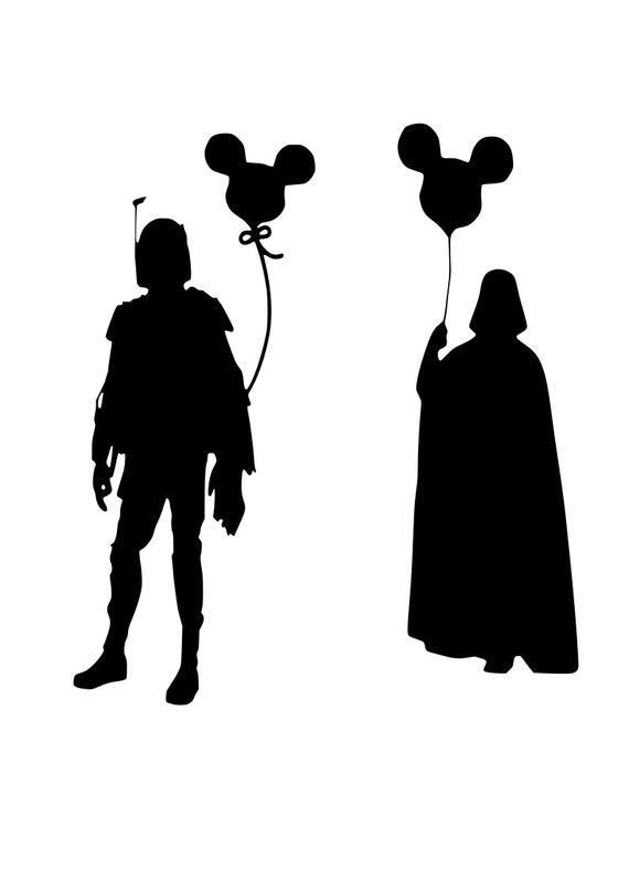 "8/"" Star Wars Darth Vader Mickey Mouse iron on rhinestone transfer applique"