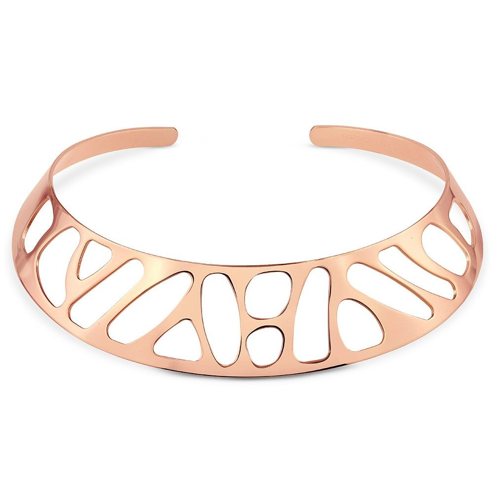 Rose Gold-Tone Choker Necklace