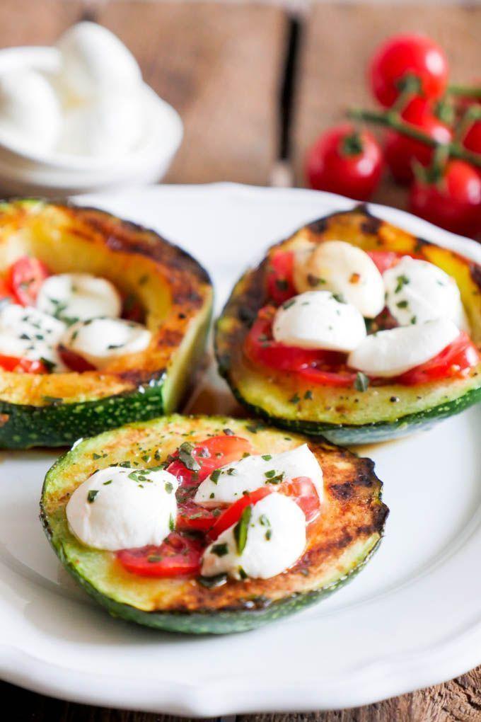 Photo of Gegrillte Zucchini Tomate-Mozzarella Low Carb