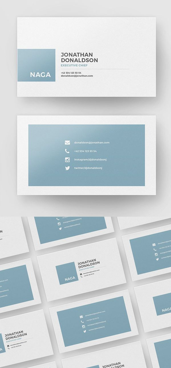 Simple, Minimal Business Card Template | Дизайн, Визитки | Pinterest ...